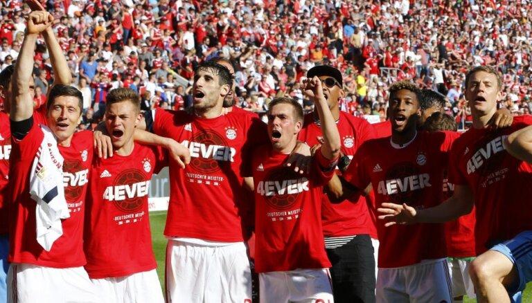"""ВИДЕО: """"Бавария"""" рекордный раз подряд стала чемпионом немецкой бундеслиги"""