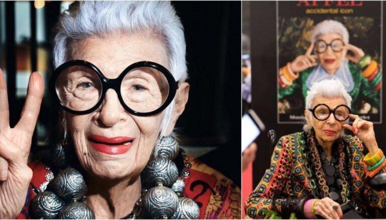 Stila ikona Airisa Apfela 97 gadu vecumā pievienojas vienai no lielākajām modeļu aģentūrām
