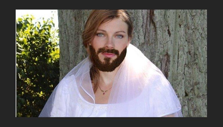 Foto: Kā Latvijas dāmas izskatītos ar bārdu