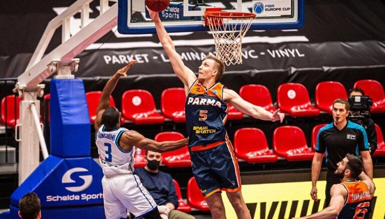 Mejeris un 'Parma' piedzīvo zaudējumu FIBA Eiropas kausa bronzas mačā