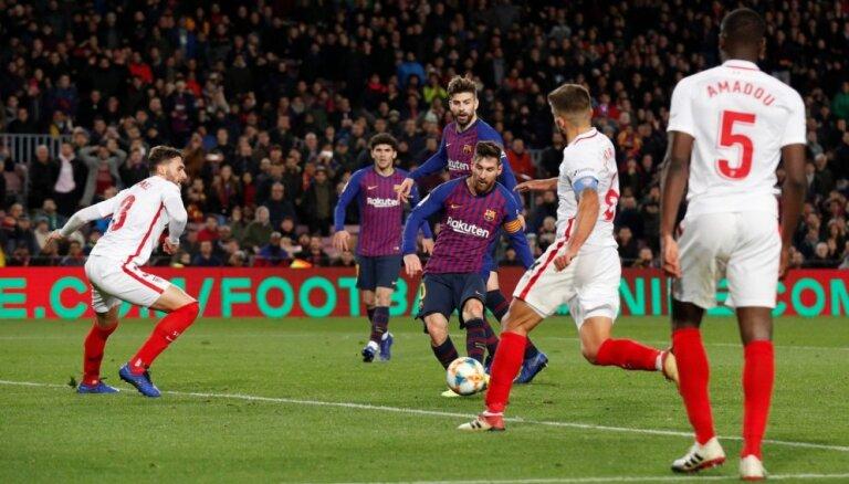 'FC Barcelona' Spānijas kausā sagrauj 'Sevilla'