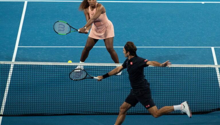 Federers un Viljamsa pirmo reizi tiekas kortā