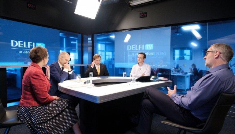 'Delfi TV ar Jāni Domburu' diskusija – ko sagaidām tautsaimniecībā