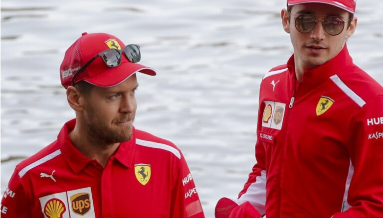 'Ferrari' pilotu necienīgā attieksme vienam pret otru vairs neatkārtošoties