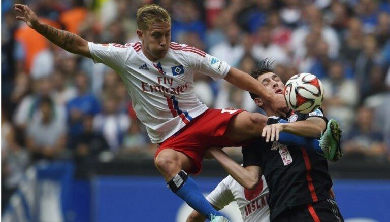 Rudņevs nepiedalās HSV komandas zaudējumā pret 'VfL Wolfsburg'