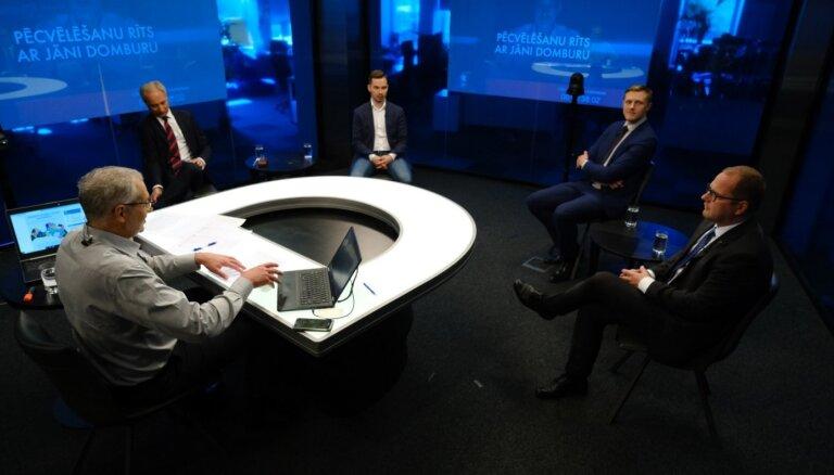 'Delfi TV ar Jāni Domburu' partiju līderi un eksperti par vēlēšanu rezultātiem. Pilns ieraksts