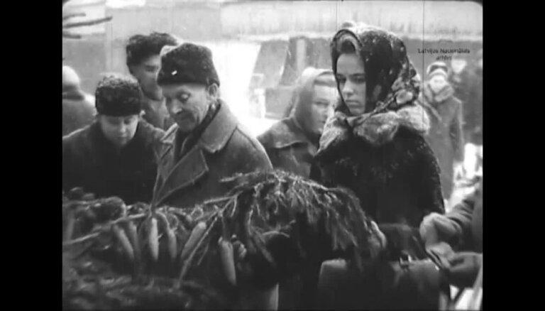 Arhīva video: Kā 1966. gadā rīdzinieki gatavojās svētkiem