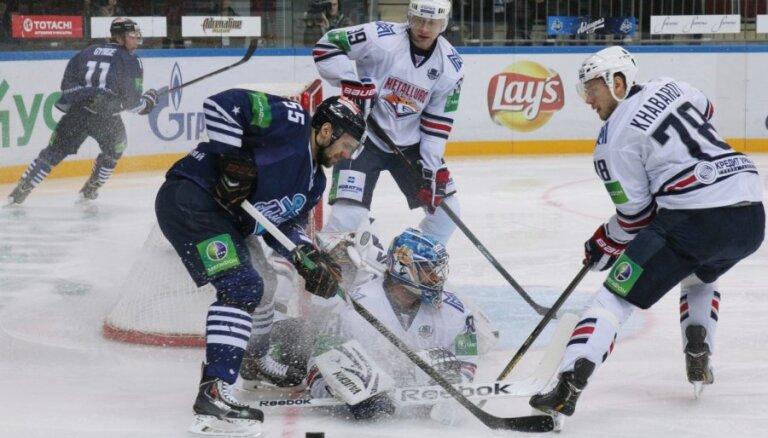 Magņitogorskas 'Metallurg' un 'Admiral' gandrīz labo KHL spēles ilguma rekordu