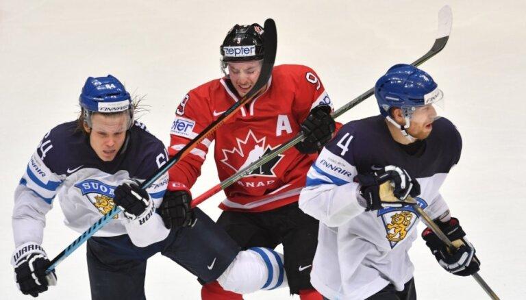 Kanādas izlases spēlētāji apmierināti ar savu sniegumu aizsardzībā