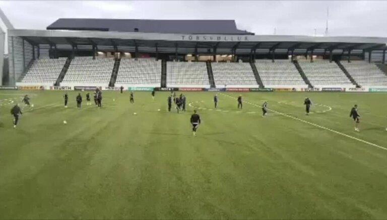 Latvijas futbola izlases treniņš Toršavnā
