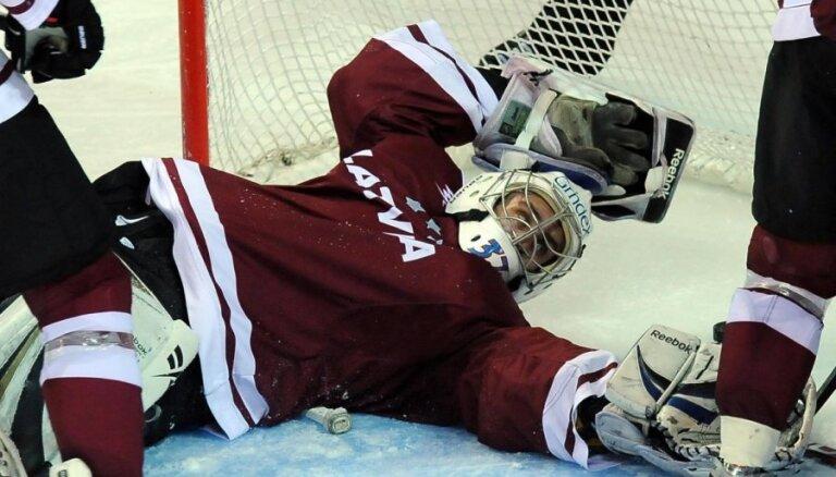 Latvijas hokejistiem priekšpēdējā vieta 'Euro Hockey Challenge' pirmajā turnīrā