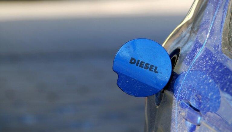 В Риге подорожало дизельное топливо