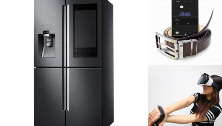 """CES-2016: Samsung показала гибрид холодильника и смартфона, а также """"умный"""" ремень"""
