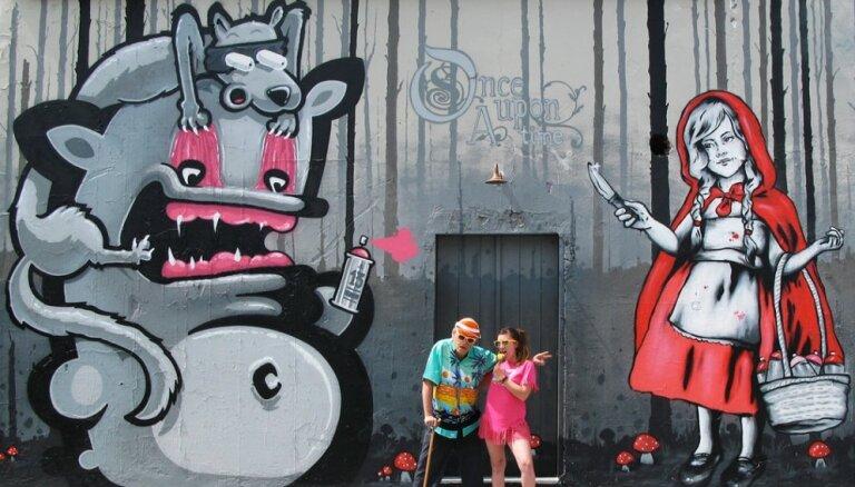 Video: Latviešu grafiti mākslinieks 'Kiwie' apzīmē Kipru
