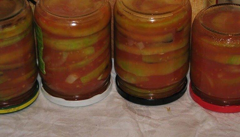 Маринованные кабачки в томатном соке