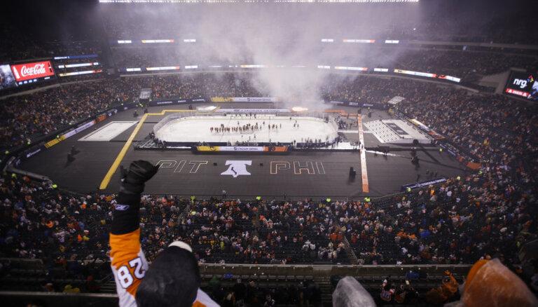 Малкин забросил шайбу в матче НХЛ под открытым небом, у Овечкина — тоже гол