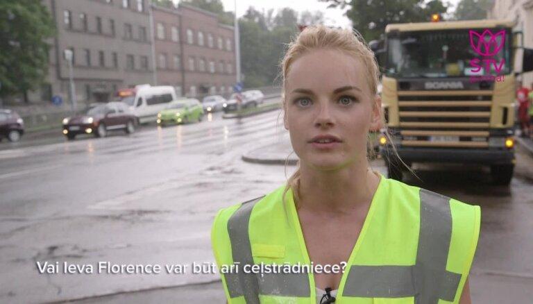 Iespējams skaistākā ceļstrādniece Latvijā - Ieva Florence