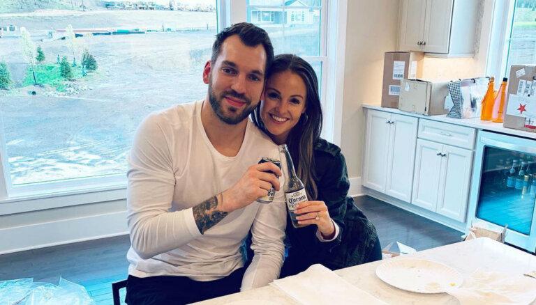 ФОТО: Латвийский нападающий НХЛ Гиргенсонс купил с невестой новый дом