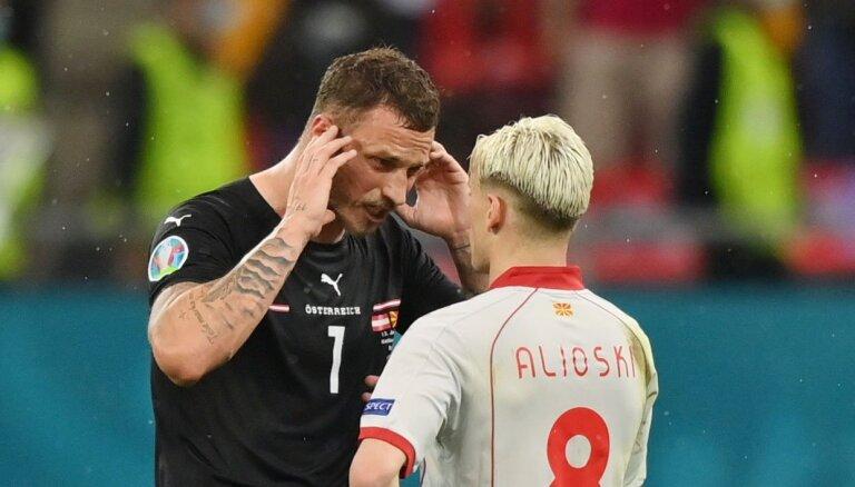 'Euro 2020': Arnautovičs diskvalificēts par naidpilniem izteikumiem albāņu futbolistiem