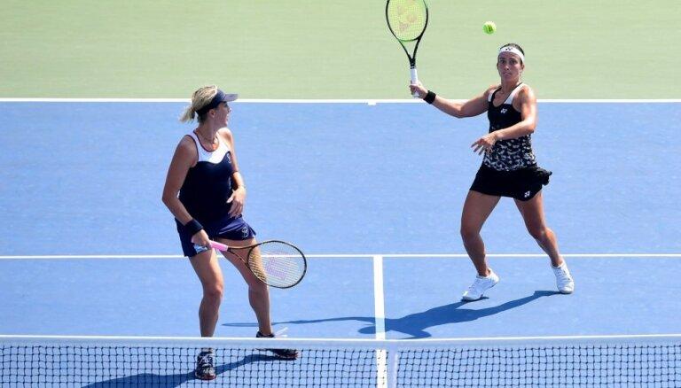 Sevastova neiekļūst 'US Open' pusfinālā dubultspēlēs