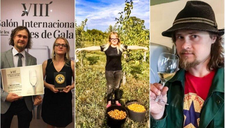 Сидр из своих яблок. Продукцию семьи из Латвии признали в Европе