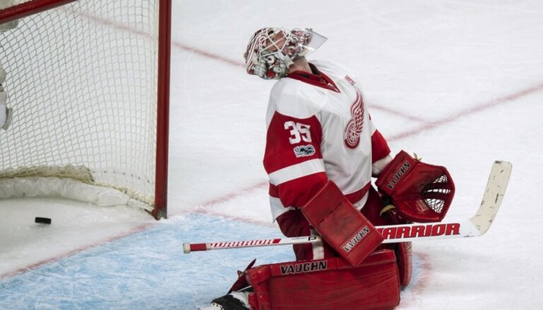 Pārtrūkst 'Red Wings' hokejistu iespaidīgā panākumu sērija