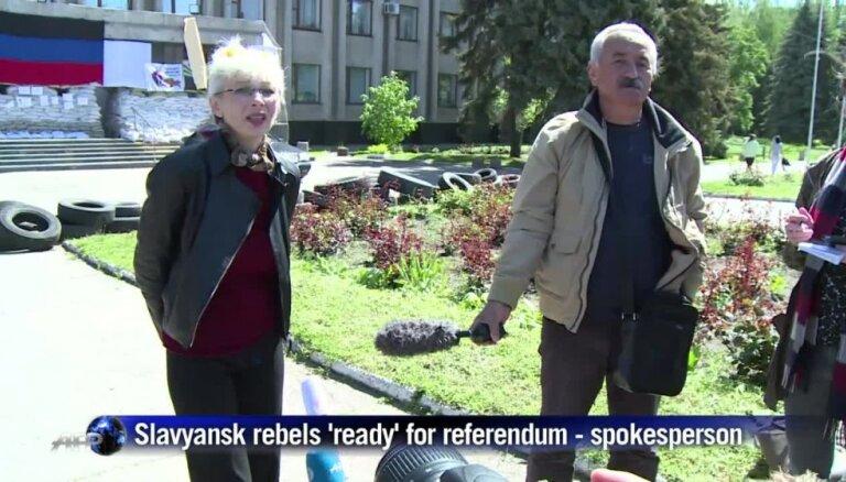 Ukrainas separātisti atsakās pārcelt 11. maija 'referendumu'