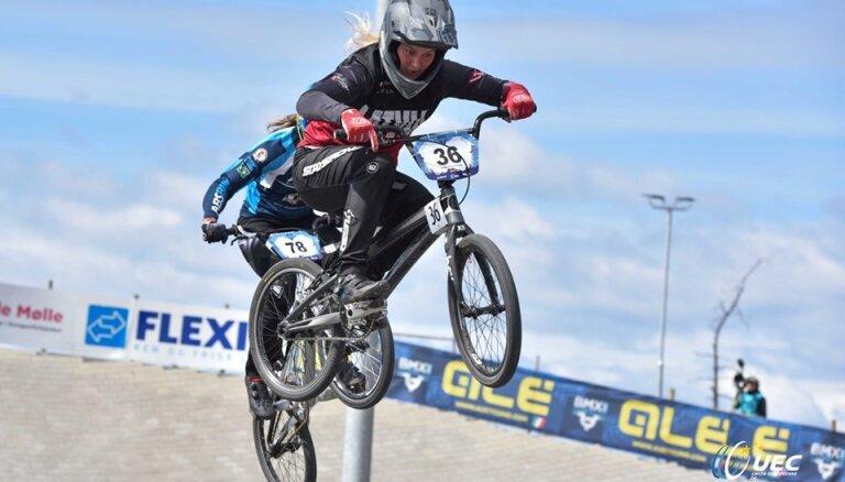 BMX braucēja Buldinska gūst augsto 13. vietu; Krīgeram pirmais sezonas ceturtdaļfināls