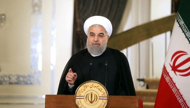 Pirms sarunu atsākšanas ASV ir jāatvainojas Irānai, paziņo Ruhani