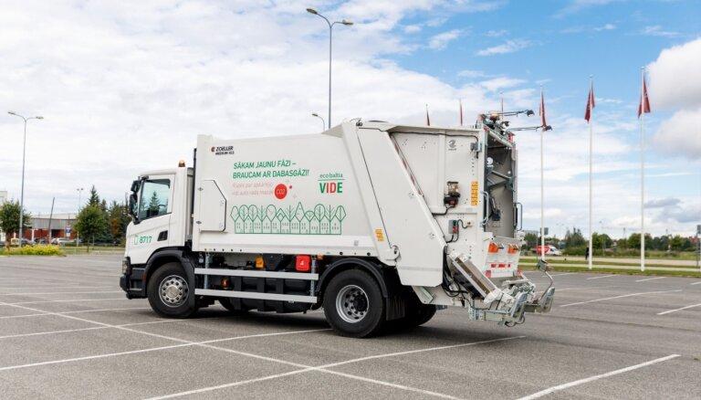 В Латвии появились первые мусоровозы на сжатом природном газе