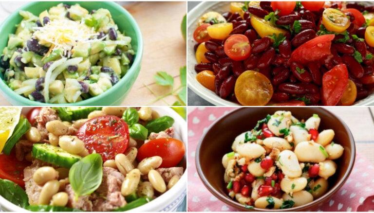 Nesvīsti pie plīts! 20 konservētu pupiņu salātu receptes tveicīgām dienām