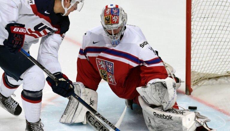 ASV hokeja izlase otro gadu pēc kārtas atstāj Čehiju bez medaļām