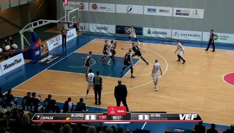 'OlyBet' basketbola līga: 'Liepāja' - 'VEF Rīga'. Spēles labākie momenti (06.02.2019.)