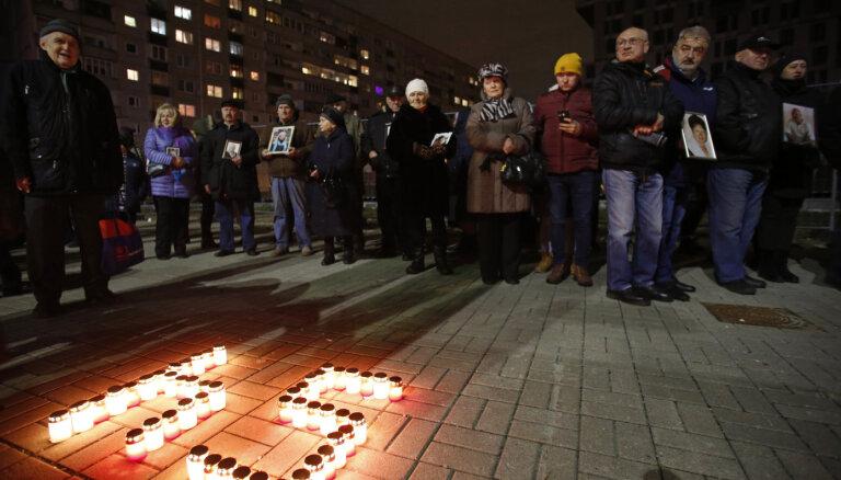 ФОТО: Близкие погибших, пожарные и должностные лица помянули погибших в Золитудской трагедии