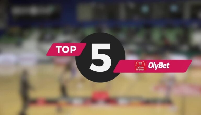 'OlyBet' basketbola līgas nedēļas TOP 5 (06.02.2019.)