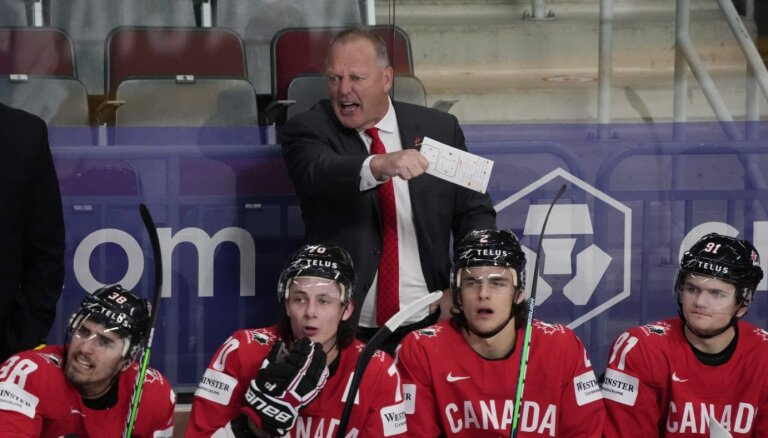 Kanādas izlases treneris: būšu šokēts, ja Latvija un Vācija necīnīsies par uzvaru
