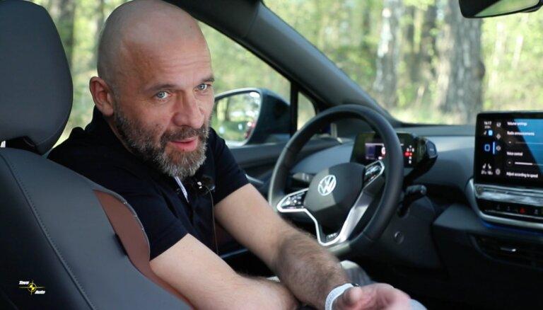 Video: Mārtiņš Grīnbergs izmēģina 'VW ID.4' elektromobili