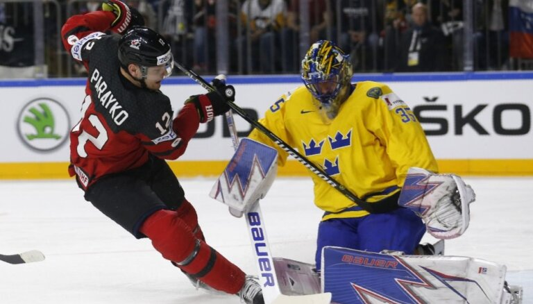Zviedrijas izlases uzbrucējs Krīgers: Lundkvists uzdāvināja mums uzvaru