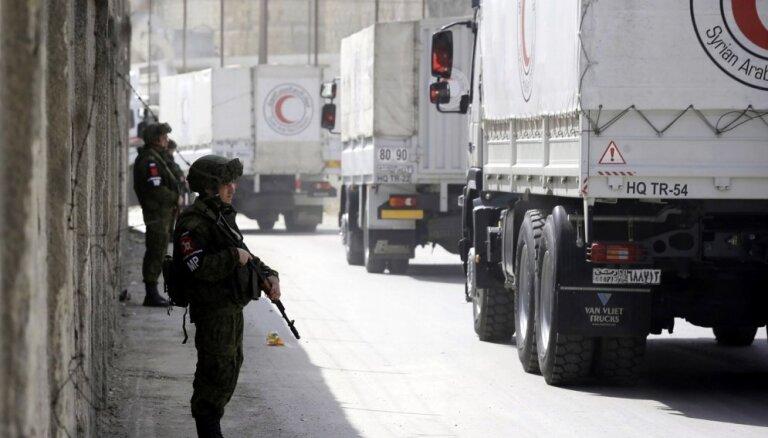 Sīrija sabumbotajā Austrumgutā neļauj ievest vairumu medicīnas preču