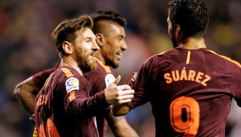 """Хет-трик Месси помог """"Барселоне"""" в 25-й раз выиграть чемпионат Испании по футболу"""