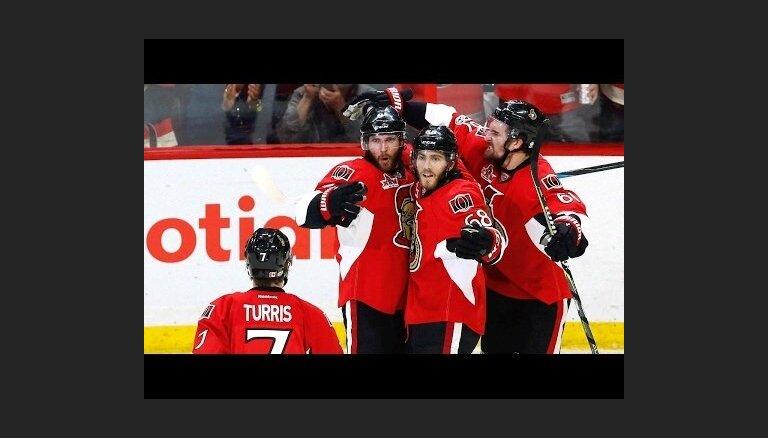 Stenlija kauss: Pitsburgas 'Penguins' un Otavas 'Senators' duelis nonāk līdz septītajai spēlei