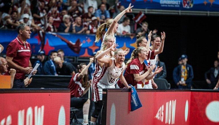 Сборная Латвии одержала первую победу на домашнем Евробаскете в Риге
