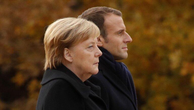 Merkele un Makrons noraida atkārtotas sarunas par 'Brexit' vienošanos