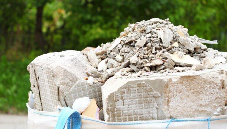 Kur likt būvgružus jeb būvniecības atkritumus?