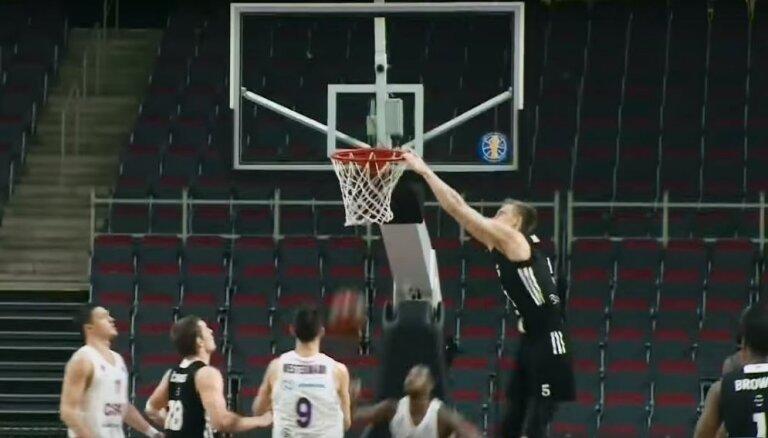 Video: 'VEF Rīga' basketbolisti dominē VTB Vienotās līgas nedēļas TOP 10