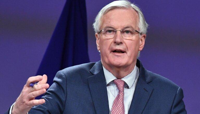 'Brexit' sarunās risinājums joprojām nav rasts, pārliecināts Barnjē