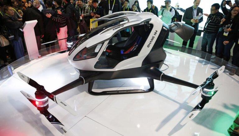 CES-2016: EHang 184 — безумный свехбольшой дрон для перевозки… людей!