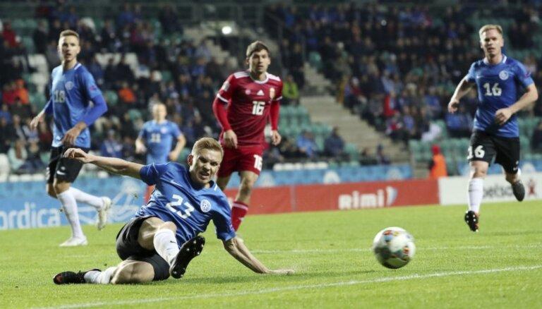 UEFA Nāciju līga: Igaunijai pirmais punkts, Anglija uzvar Spāniju