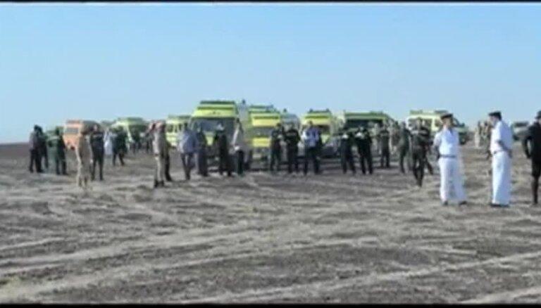 Pirmais video no Krievijas lidmašīnas katastrofas vietas