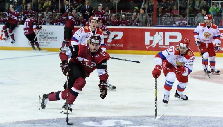 Хоккеистам Латвии удалось размочить ворота сборной России за семь минут до конца
